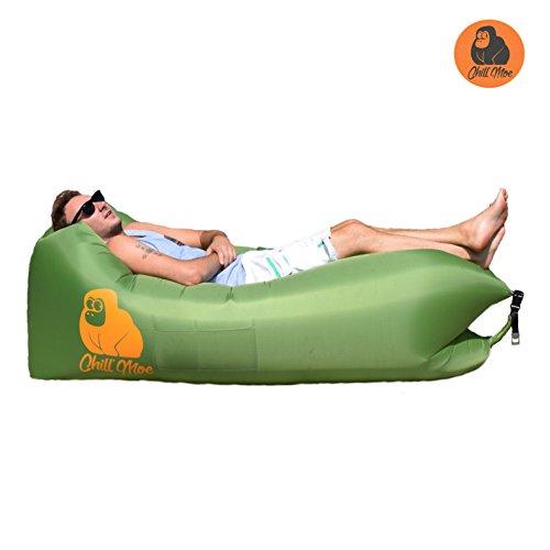 ChillMoe Luftsofa air lounger Sitzsack aufblasbar Liegesack air sofa outdoor (grün)