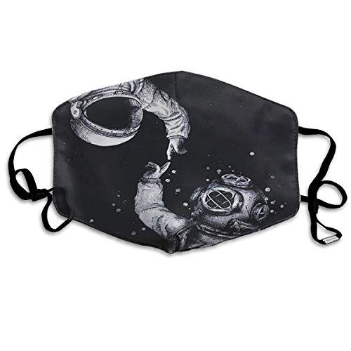 Vbnbvn Boca Máscara,Mascarillas,Máscaras bucales,Anti Dust Mask Astronaut Anti Pollution Washable Reusable Mouth Masks for Man Woman