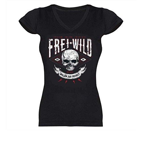 Freiheit Schwarzes T-shirt (Frei.Wild -