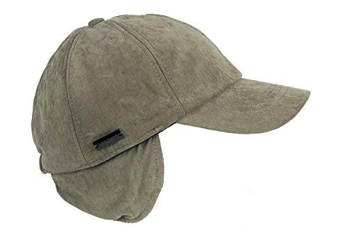 Preisvergleich Produktbild Hut herren LAURA BIAGIOTTI baseball ohrenschützer mit visier tg. 56 taupe L1717
