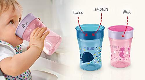 NUK Magic Cup, Trinklernbecher mit persönlicher Gravur, 230ml (rosa) - 6