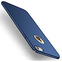 Funda iPhone 6/6s, Joyguard iPhone 6/6s Carcasa con [Protector de Pantalla de Cristal Templado Completo] [Ultra-Delgado] [Ligera] Anti-rasguños Estuche para Case iPhone 6/6s - 4.7pulgada - Azul Profundo