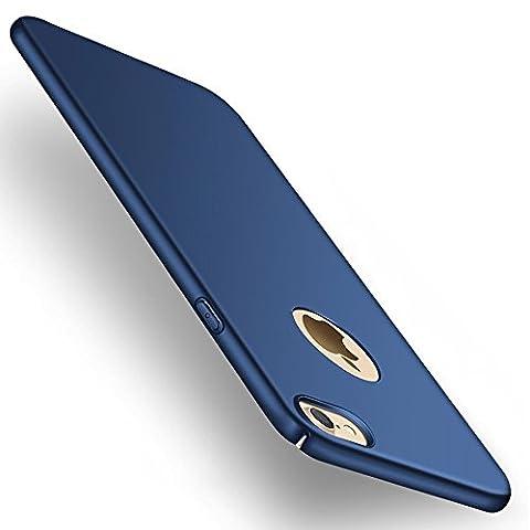 Joyguard Rückdeckel mit Gehärtetem Glas Displayschutz (Anti-Kratzer, 0,3mm dünn, geeignet für iPhone 6/6S) Dunkel blau