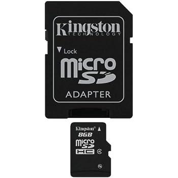 Kensington 8 GB microSDHC Memoria Flash Clase 4 - Tarjeta de Memoria (8 GB, MicroSDHC, Clase 4, Negro)