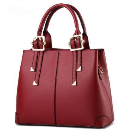HQYSS Borse donna Ladies in pelle PU Borsa a tracolla a spalla , rose red wine red