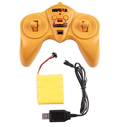 RC Auto kaufen Baufahrzeug Bild 3: deAO RC Radlader mit LED Beleuchtung und Sounds Radio Kontrollierter Baustellen LKW inklusive wieder ladbare Batterien mit lade Station*