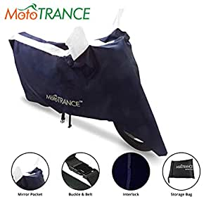 Mototrance Sporty Arc Blue White Bike Body Cover For Universal Universal