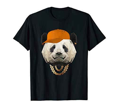 Oldschool Hip Hop Origami Panda Gangster Rap Cappy Träger T-Shirt