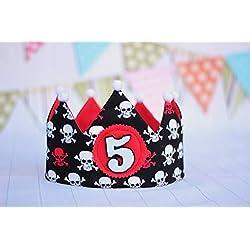 Corona de cumpleaños con piratas.