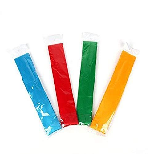 Isuper Sport 4 Stück Band für Tanzbänder mit Drehgelenk, aus Holz, Rot, Grün, Gelb, Blau. -