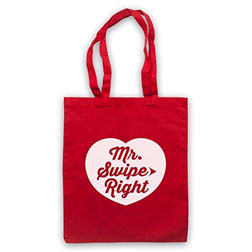 Mr Swipe Right Funny Dating App Slogan Umhangetaschen Rot
