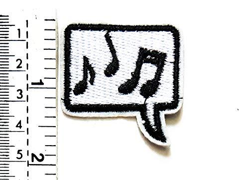 Aufnäher mit Musiknoten Karaoke-Cartoon-Motiv, für Kinder/Kinder, für Motorradfahrer, Biker, Tattoo, Jacke, T-Shirt, Aufnähen, Besticktes Schild