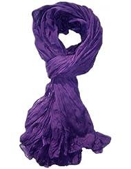 *** PROMOTION *** Chèche Foulard Écharpe - Violet - 100% coton