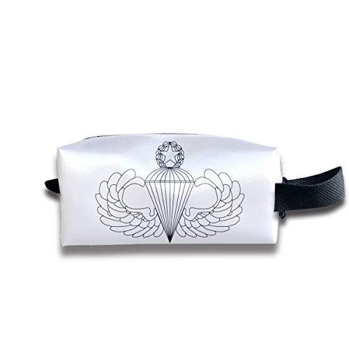Army Parachutist Badge Logo Travel&Home&Office Portable Make-up Receive Bag Hand Cosmetic Bag with Hanging -
