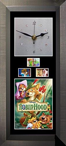 Film Cells Direct Robin Hood Wanduhr mit Swarovski-Kristallen, geräuschlos
