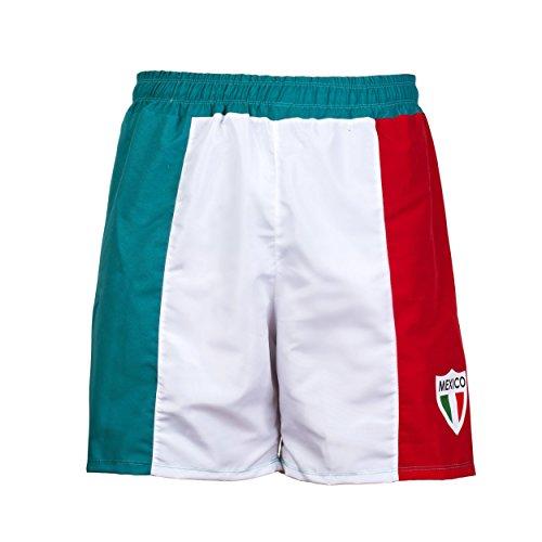 Mexiko Nationalflagge Unisex Cruise Badehose Sport Bermuda Shorts Strand Hosen Hose - S (Fußball-mexiko-uniform)