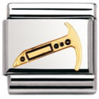 Nomination Composable Classic Daily Life 1 Edelstahl, Email und 18K-Gold (Spitzhacke) 030242
