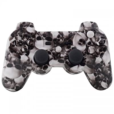 Playstation 3 Controller - White Hades Skulls