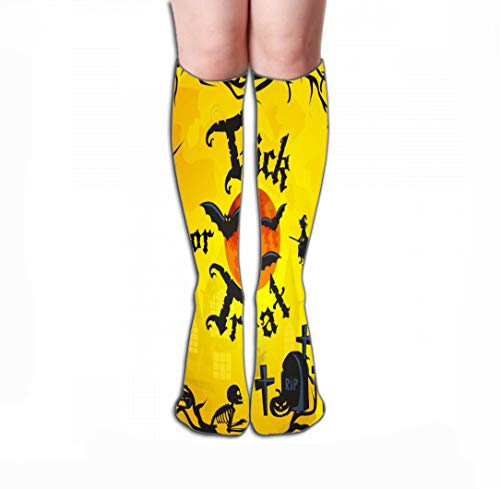 GHEDPO Hohe Socken Socks-Women Luxury Cotton Colorful Cool Fun Socks 19.7