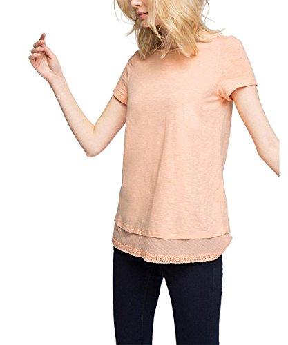 Esprit Mit Spitze, T-Shirt Femme Rose (SALMON 860)