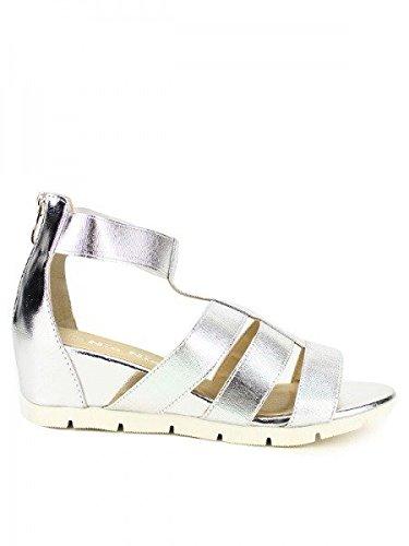 Cendriyon, Compensée Métal argent NIO NIO Chaussures Femme Argenté