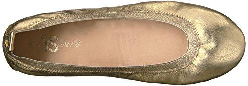 Yosi Samra Ladies Samara Metallic Flat 2w Closed Ballerinas Gold (oro)
