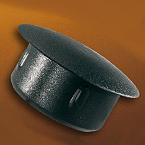 THOMAFLUID Schutzstopfen aus LDPE - mit Haltenoppen, D: 16 mm, d: 13 mm, h: 8,5 mm, schwarz, 100 Stück