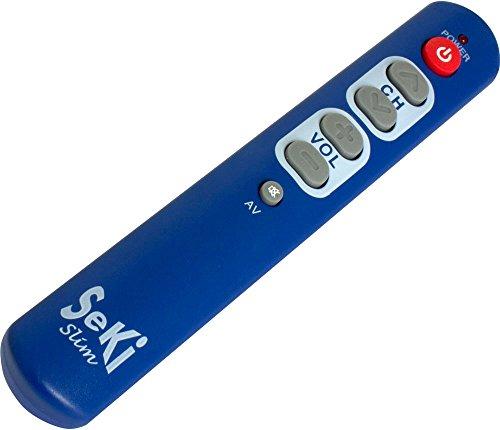 SeKi Slim blau lernfähige Universal-Fernbedienung mit großen Tasten - für Senioren + Kinder