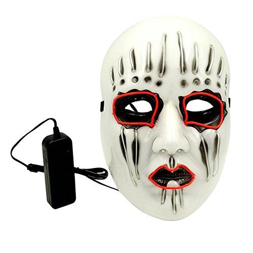 Halloween Stirnband Maske Horrible EL Maskerade Tanzpartys Stilvolle LED SlipKnot Maske Festival Dekoration Leuchtend