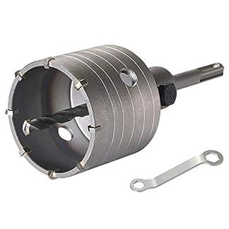 flintronic Sierra Corona Adaptador SDS Plus 110mm Broca 8 * 110mm Perforadora Hormigon en Seco para Hormigon Metal de Carburo