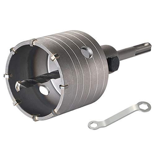 flintronic ® Hohl-Bohrkrone Ø 68mm mit SDS plus Adapter 110mm Zentrierbohrer 8x110mm Lochsägen Bohrer für Steckdosen Hammerschlagfest Dosenbohrer
