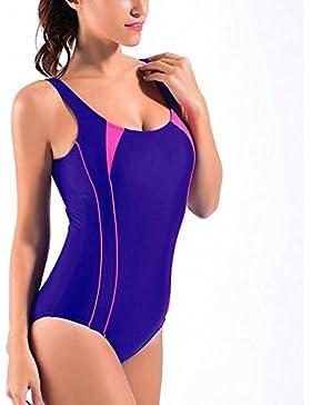 67e3fa616894 La Plus Size Swimwear Backless del Bikini Costume da Bagno di un Pezzo ,  black ,