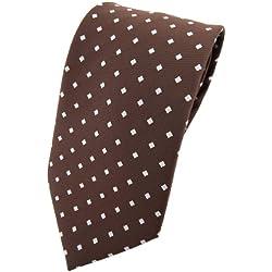 TigerTie - Corbata - marrón castaño claro plata lunares con comprobar