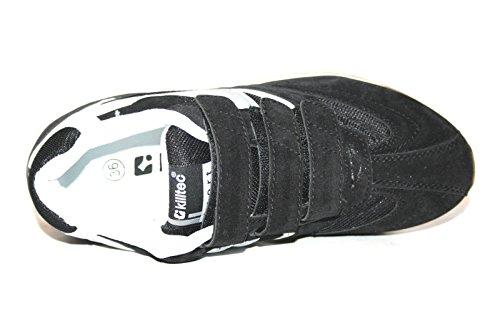 Killtec Kinderschuhe KP 845 Jr. Velcro 18286-00200 Unisex - Kinder Halbschuhe Sportschuhe Black (black/white/silver)