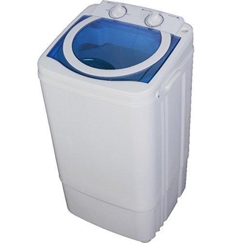 Syntrox Germany A 7 Kg Waschmaschine mit Schleuder Weiß/Blau Campingwaschmaschine Mini Waschmaschine
