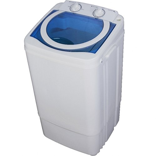 Syntrox Germany A 7 Kg Waschmaschine mit Schleuder Weiß/Blau Campingwaschmaschine Mini...