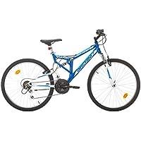 BACHINI VTT 26'' Tout Suspendu Ultra Bike 18 Vitesses Indexées - Freins V-Brake