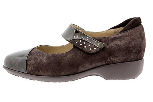 Scarpe donna comfort pelle PieSanto 9677 Mary Jean casual comfort larghezza speciale Taupe