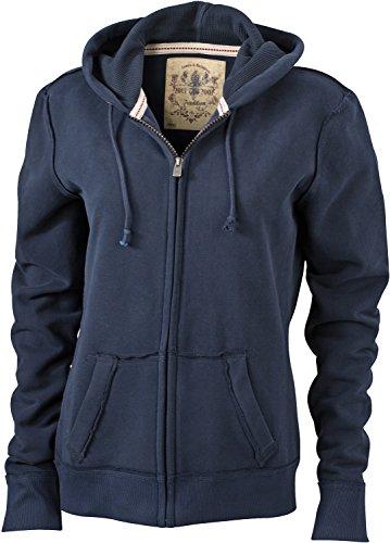 JN942 Ladies´ Vintage Hoody Jacke Sweatjacke Sweatshirt Kapuze, Größe:M;Farbe:Navy -