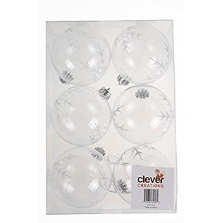 Clever-Creations-Transparente-Christbaumkugeln-bruchsicher-festliche-Weihnachtsdeko-80-mm-6-teilig