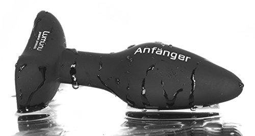 Deluxe Silikon Butt Plug Anfänger (small, Ø 28 mm), Analplug mit Standfus - 9