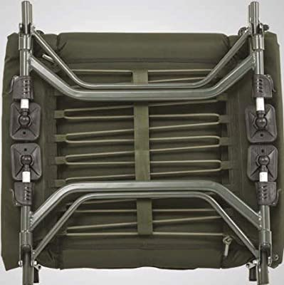 JRC Unisex's X-Lite Level Carp Fishing Bed Chair, Dark Green, One Size from Pure Fishing