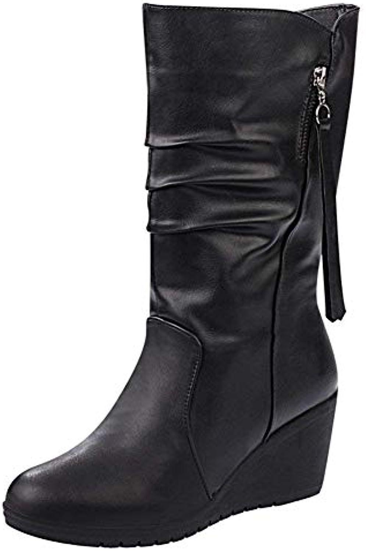SED Scarpe da donna 'S 'S 'S stivali Pu Tassels and Heels Warm Comfort',36 Eu,Nero | Nuovo  e9fc23