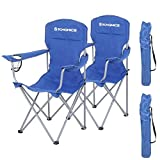 SONGMICS GCB08BU, Set of 2, Folding Chairs, Comfortable Folding Chair with Sturdy Frame