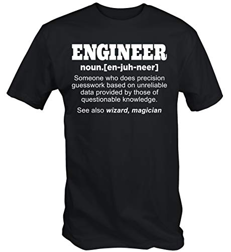 6TN Lustig Ingenieur T-Shirt - Schwarz, XXL