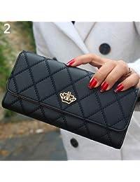 70c78eb70bb Sac à main AchidistviQ pour femme - Portefeuille long matelassé en cuir  synthétique - Porte-