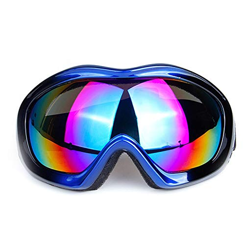 MaxAst Sportbrille Herren Motorradbrille Vintage Schutzbrille Infrarotlampe Blau Schwarz