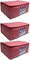PrettyKrafts Saree cover Set of 3 Prints Big Size / Wardrobe Organiser/ Cloth Cover