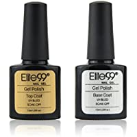 Elite99 Smalto Semipermente per Unghie in Gel UV LED Base e Top coat Semipermanente 2pzs Kit per Manicure Smalti Gel per Unghie Soak Off 7.3ml