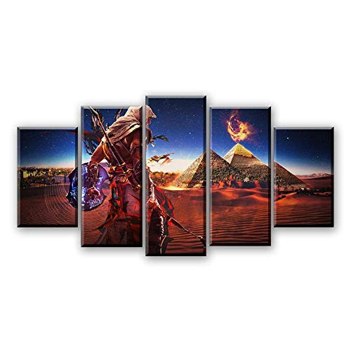 plakat Leinwand Wandkunst Assassins Creed Malerei Abstrakte Kunst Bild Spiel Poster Drucke Dekoration, Framed 30X40 30X60 30X80cm ()